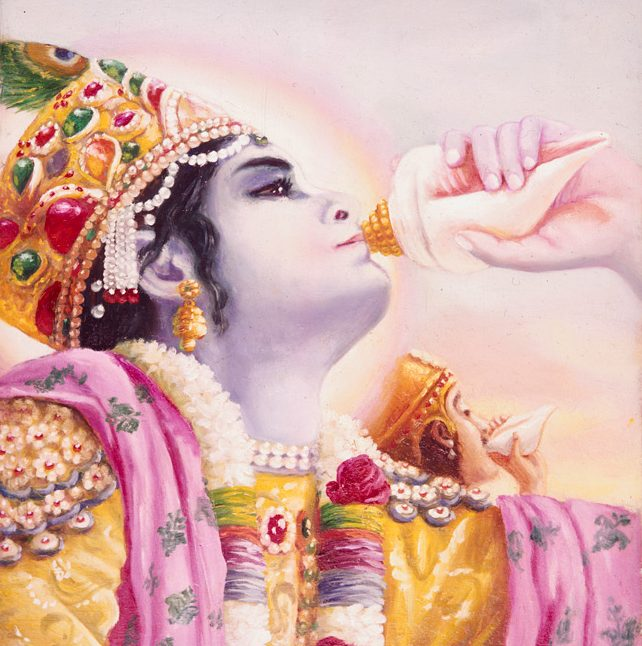 Krsna-Arjuna-blowing-conchshells-thumb