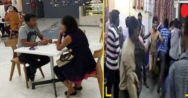 लड़की के संग रेस्टोरेंट में बैठकर चाय पीने की सजा